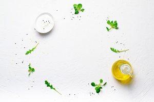 Salad Leaves, Olive Oil, Yogurt