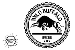 Logo, label buffalo