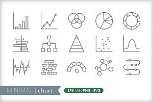 Minimal chart icons