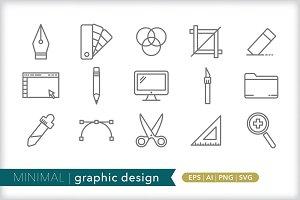Minimal graphic design icons