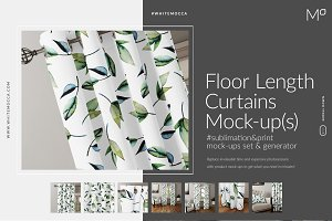 Floor Length Curtains Mock-ups Set