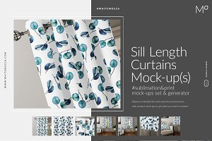 Sill Length Curtains Mock-ups Set