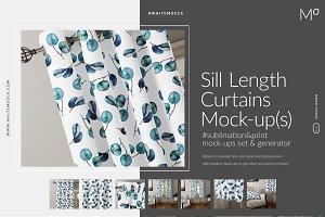 Sill Length Curtains Mock-ups Set