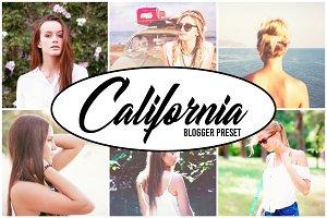 California Blogger Preset