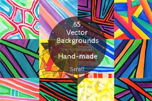 Set of 65 vector background