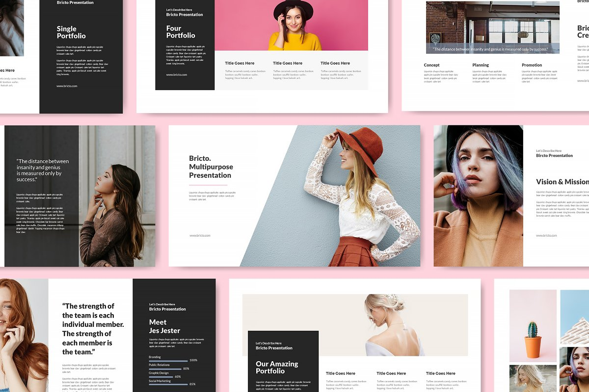 Bricto Powerpoint Template Powerpoint Templates