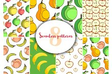 Fruits patterns. Sweet vector