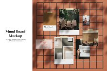Mood Board Mockup by  in Product Mockups
