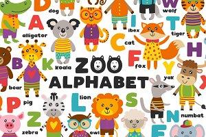 alphabet with cute animals
