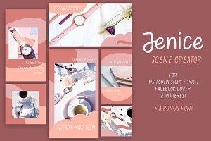 Jenice - Social Media Scene Creator