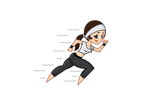 Fast Girl Fitness in Illustrations