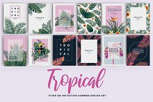 Set of 12 Tropical Flyer Template by  in Flyers