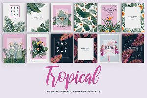 Set of 12 Tropical Flyer Template