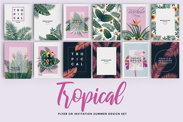 Flyer Templates: Creative Graphics - Set of 12 Tropical Flyer Template