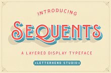 Sequents - Layered Font (+ORNAMENT) by  in Display Fonts