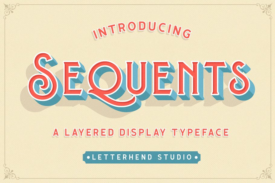 Sequents - Layered Font (+ORNAMENT)