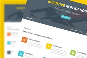 Inventive Landing Page Template