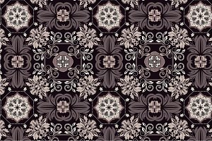 3 Seamless Pattern chocolate color