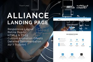 Alliance Landing Page Template