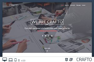 CraftoWP - One-Page WordPress Theme