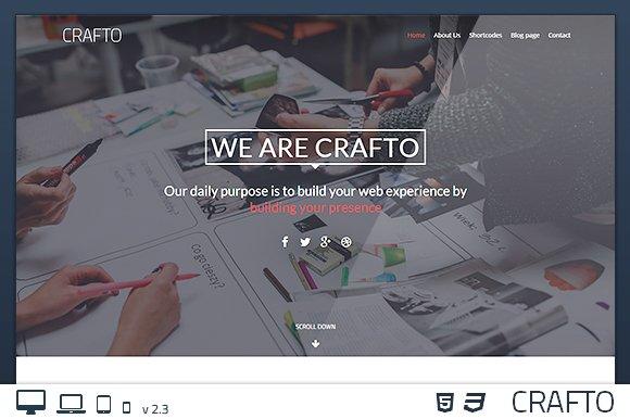 CraftoWP - One-Page WordPress Theme