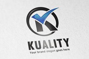 Quality Check Letter K LOgo