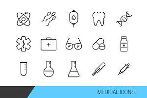 Medical Vector Line Icons