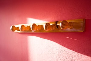Coat rack in the wall