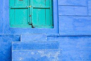 Beautiful View from blue door