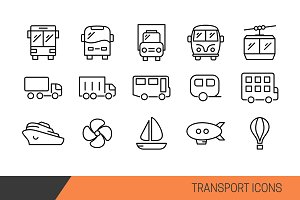 Transport Vector line icons