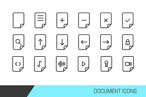Document Vector line icons