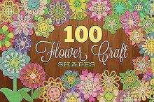 100 Flower Craft Shapes