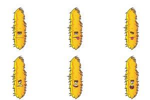Cartoon Illustration Of Fur Monster