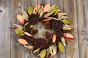 Wreath with dried nature objects