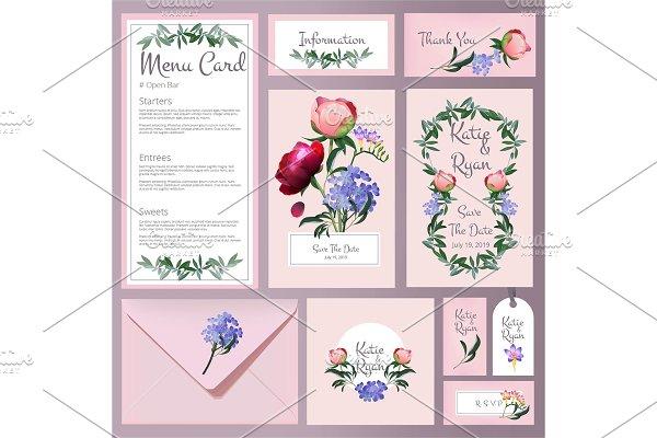 Wedding cards. Floral cards