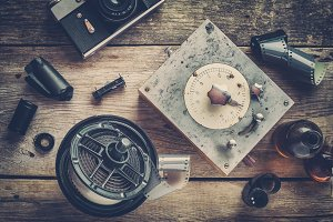 Retro photographic equipment