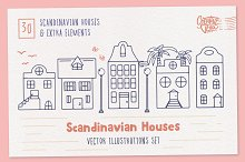 Scandinavian Houses Vector Images by  in Illustrations