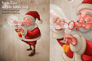 Santa Claus and the bubble soap
