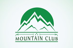 Mountain club logo template icon