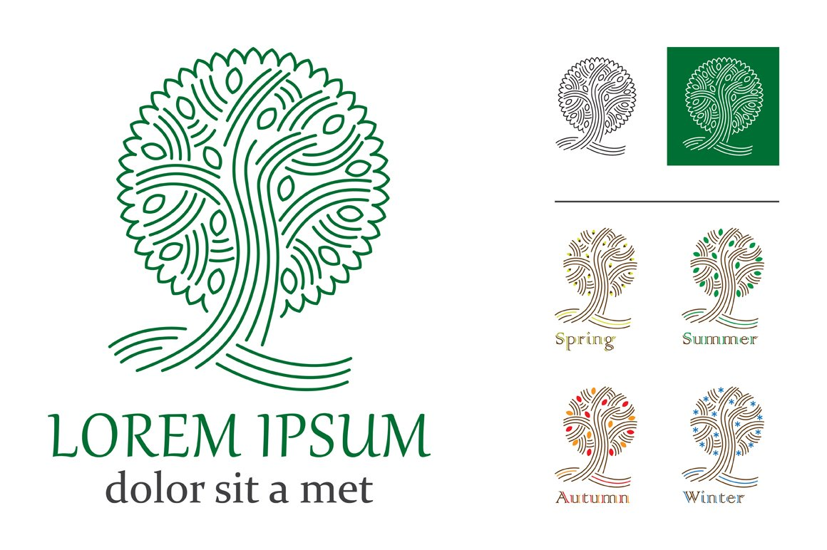 Tree logo ~ Objects ~ Creative Market