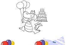 Birthday Crocodile. Collection Set