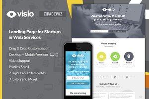 Visio Pagewiz Landing Page + PSD