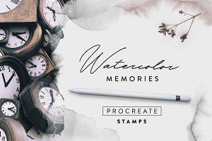 Watercolor Memories Procreate Stamps