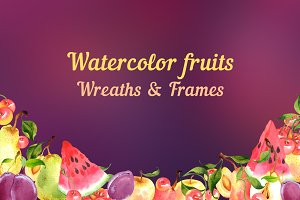 Fruit wreaths and frames