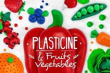 Plasticine Fruits & Vegetables