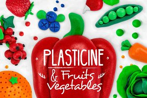 Plasticine Fruits & Vegetables