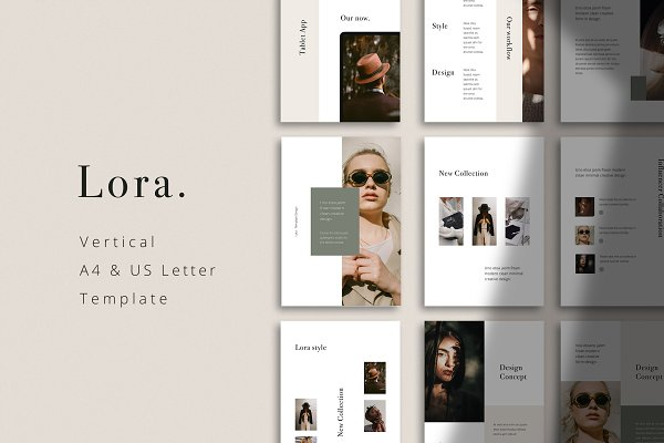 Keynote Templates: PixaSquare - LORA - Vertical Keynote Template