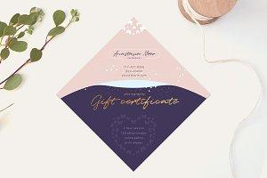 Purple Gift Certificate Template
