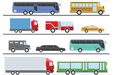 City Transportation Flat Set