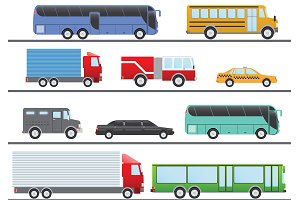 City Transportation Flat Set